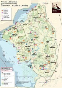 Arnside & Silverdale Map Area of Outstanding Natural Beauty