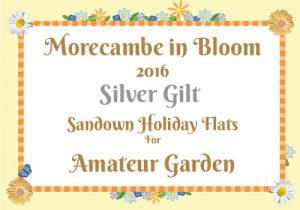 Morecambe in Bloom 2016 Silver Gilt for Amateur Garden