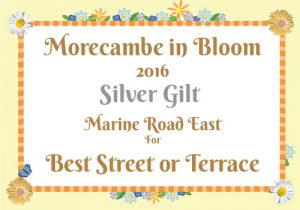 Morecambe in Bloom 2016 Silver Gilt for Best Street or Terrace