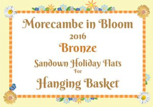 Morecambe in Bloom 2016 Bronze for Hanging Basket