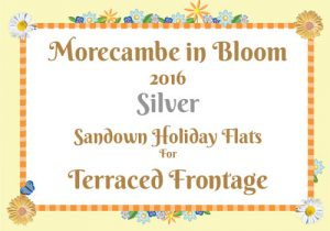 Morecambe in Bloom 2016 Silver for Terraced Frontage