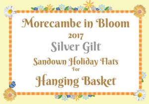 Morecambe in Bloom 2017 Silver Gilt for Hanging Basket