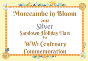 Morecambe in Bloom 2018 Silver for WW1 Centenary Commemoration